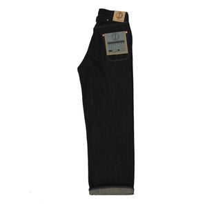 WOMENS DAWSON WIDE LEG JEANS : DD04 13.5OZ BROWN WEFT RED LINE SELVEDGE