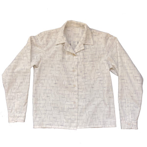 WOMENS LONG SLEEVE SPORTS SHIRT : DD025 WHITE KASURI COTTON