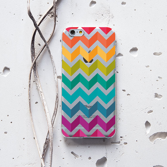 Rainbow lines Phone Case