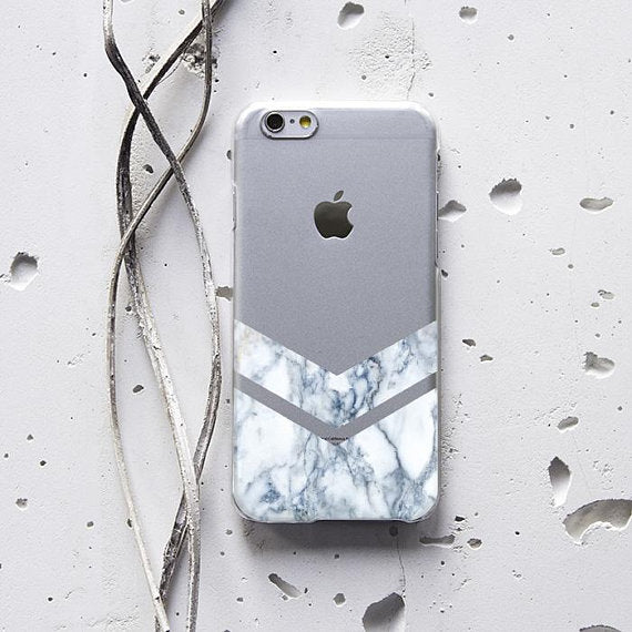 White Marble Geometry Phone Case