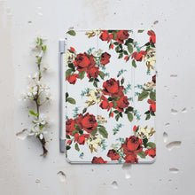 Red Floral iPad Smart Cover