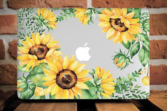 SunFlowers Macbook Case