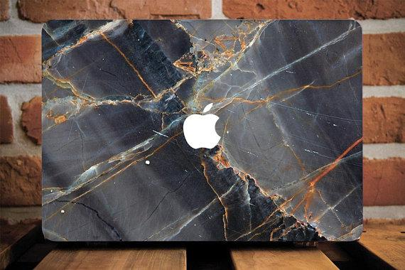 Wooden Marble Macbook Case