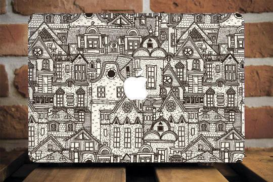 Medieval Town Macbook Case