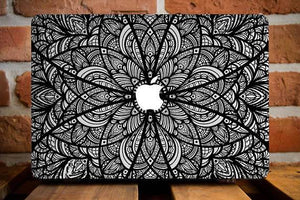 Black Mandala Macbook Case