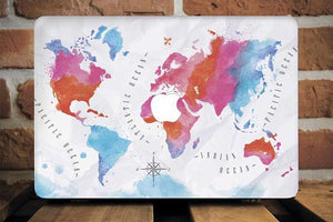 World Map Macbook Case