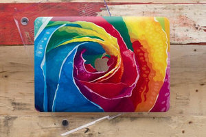Colorful Rose Macbook Case