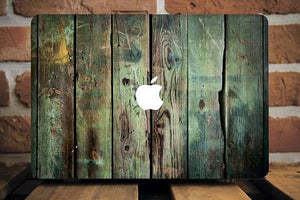 Green Wood Macbook Case