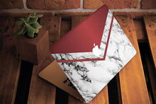 Red White Marble Macbook Case