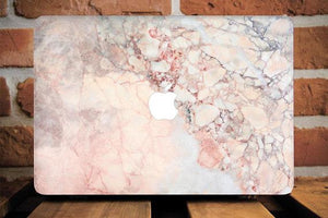 Orange Marble Macbook Case