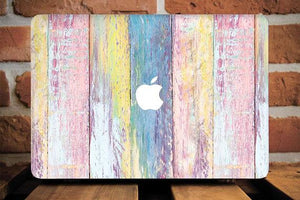 Colorful Wood Macbook Case