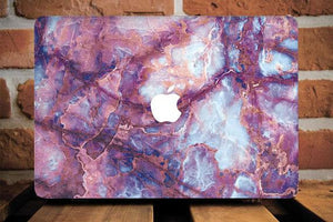 Purple Marble Sparkle Macbook Case