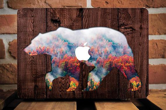 Bear Wood Macbook Case