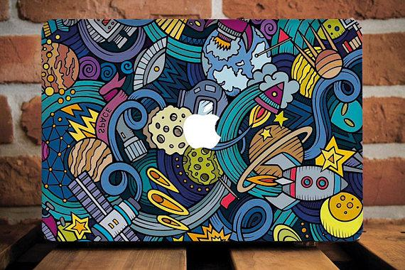 Rocket Moon Macbook Case