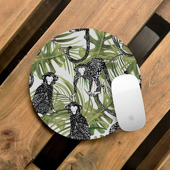 Tropical Leaves Mouse Pad