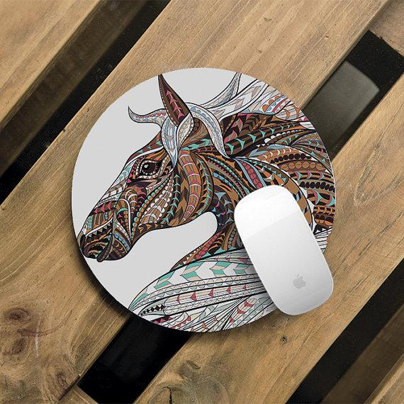 Cute Horse Mouse Pad