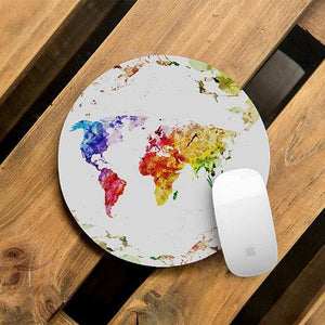 Watercolor Atlas Mouse Pad