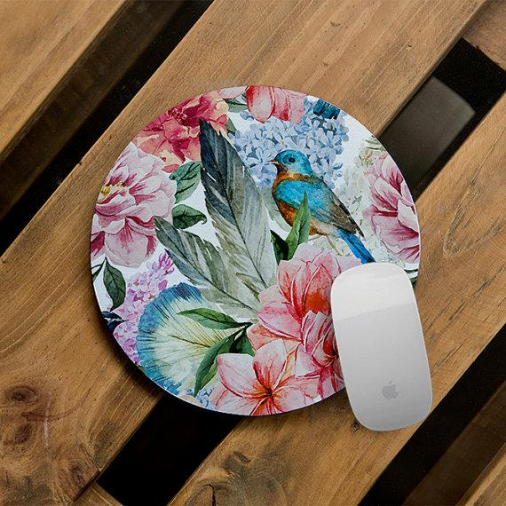 Botanical Floral Mouse Pad
