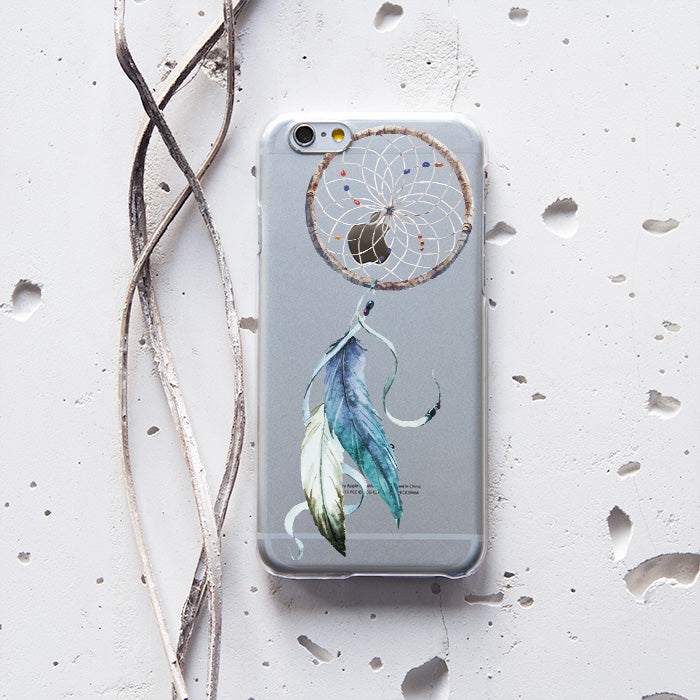 Feather Transparent  Phone Case