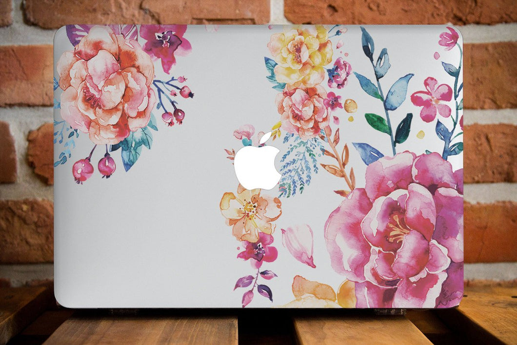 Pretty Floral Macbook Case