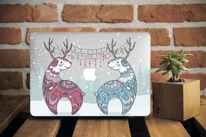Winter Deers Macbook Case
