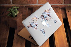 Marble Map Macbook Case