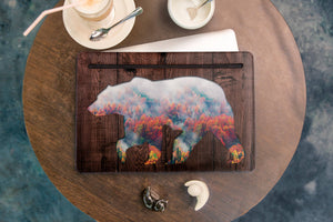 Autumn Bear Macbook Pro Leather Cover  WCM2508