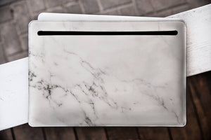 Marble Macbook Pro Genuine Leather  Case WCM2512