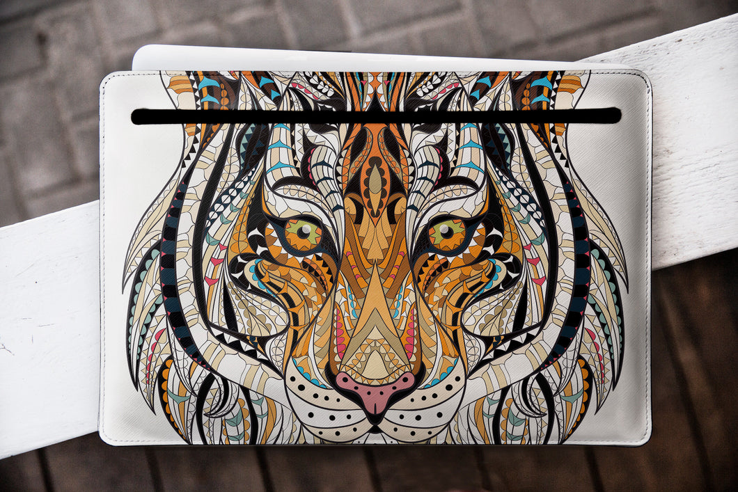 Tiger Macbook Pro Leather Macbook Case WCM2297