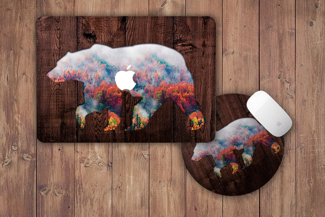 Bear Macbook Case + MousePad