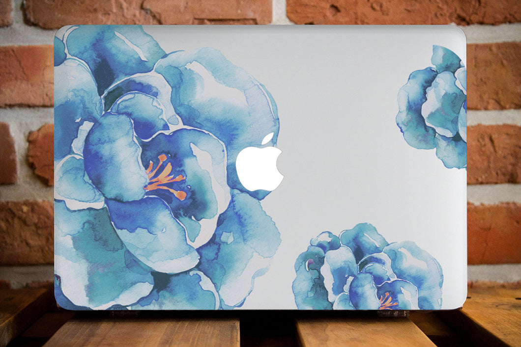 Blue Flowers Macbook Case