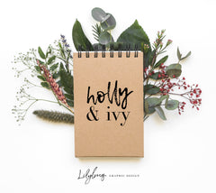 holly and ivy logo lilybug graphic design