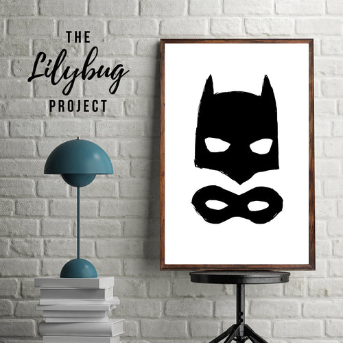 Batman mask digital printable file or print by The Lilybug Project