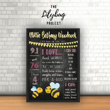 Custom printable file or print birthday posters in all sizes bee