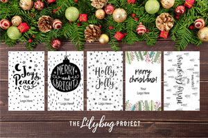 Custom Business card printable Christmas gift tag
