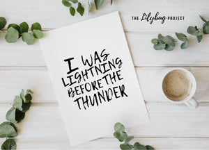 Thunder Imagine Dragons digital printable file or print by The Lilybug Project