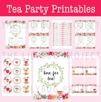 Printable Party Package - Tea Party