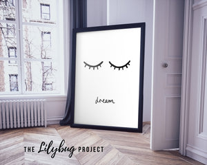 Dream childs room decor digital printable file or print by The Lilybug Project