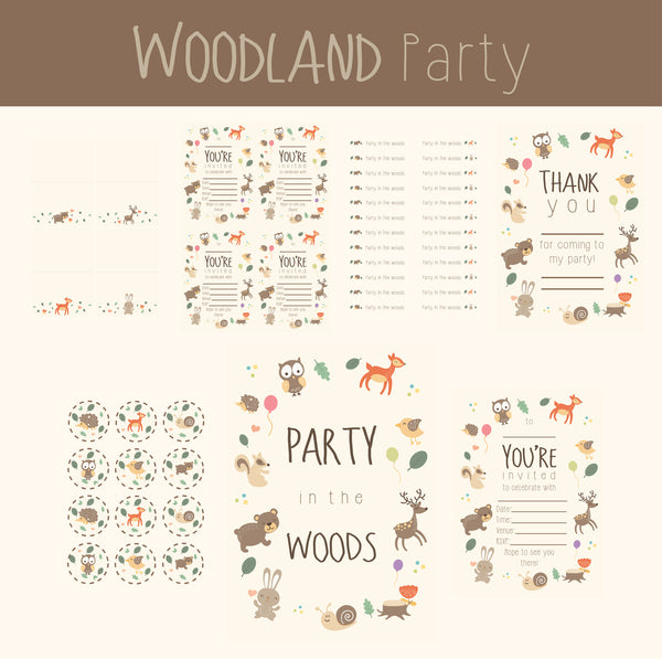Printable Party Package - Into the Woods