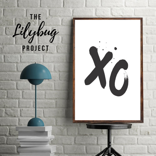 XO Kisses digital printable file or print by The Lilybug Project
