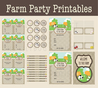 Printable Party Package - On the Farm Party