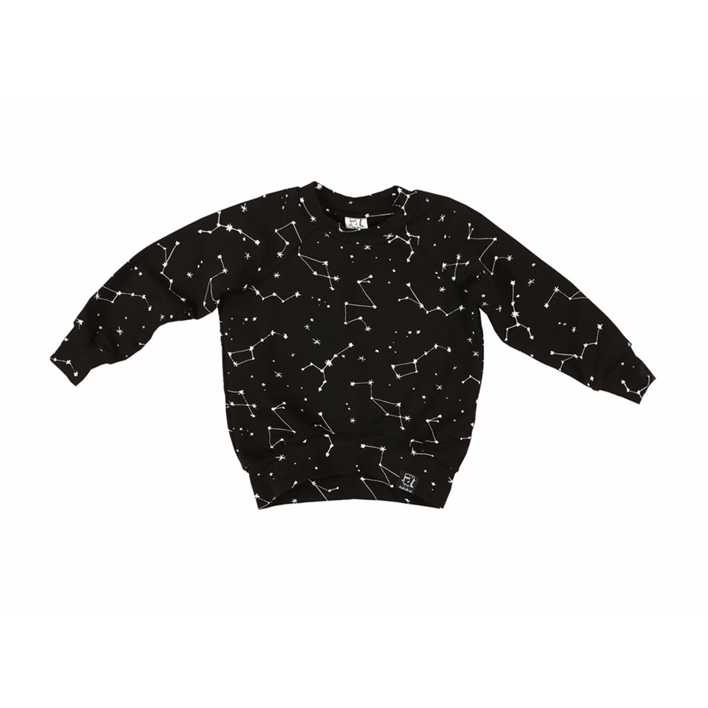 KUKUKID Lightweight Sweatshirt - Black Constellation - Last One!! Size: 1-2Y