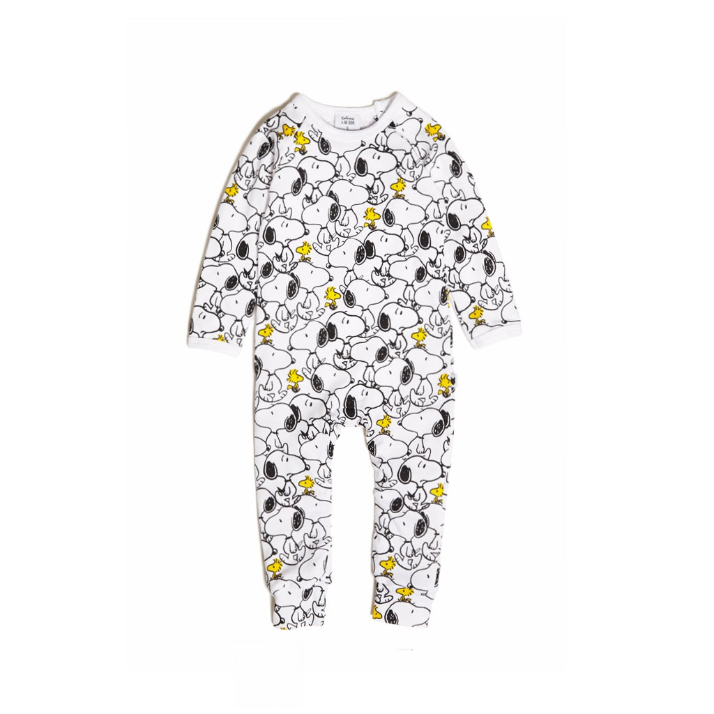TOBIAS & THE BEAR - Snoopy & Woodstock Long Romper - Last One!! Size: 6-12M