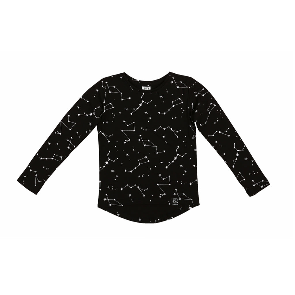 KUKUKID Long Sleeve - Black Constellation - Last One!! Size: 1-2Y