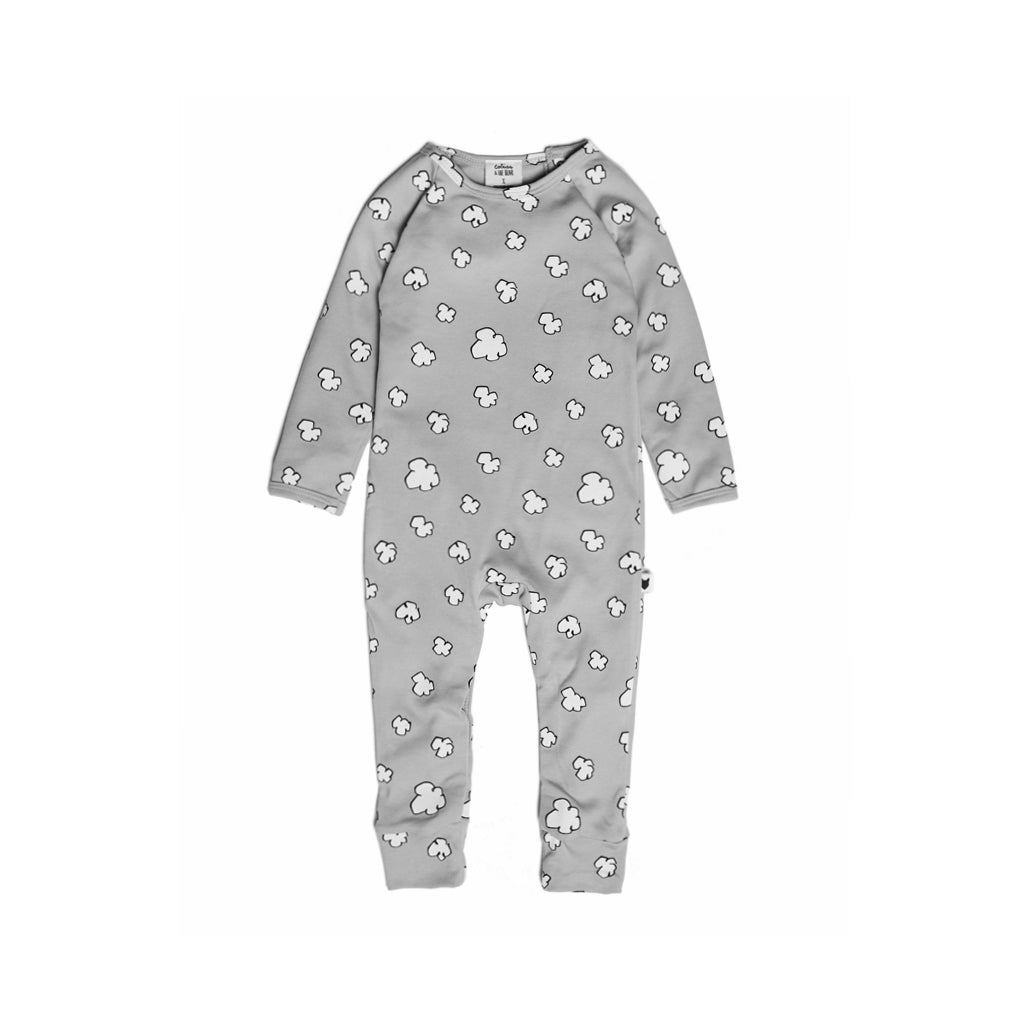 TOBIAS & THE BEAR - Clouds Long Romper - Last One!! Size: 3-6M