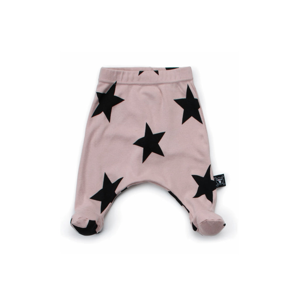 NUNUNU - Star Footie Baggy - Powder Pink