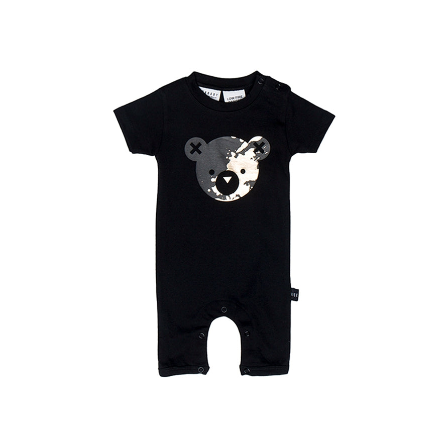 HUXBABY Splash Bear Short Romper - Last One!! Size: 6-12M