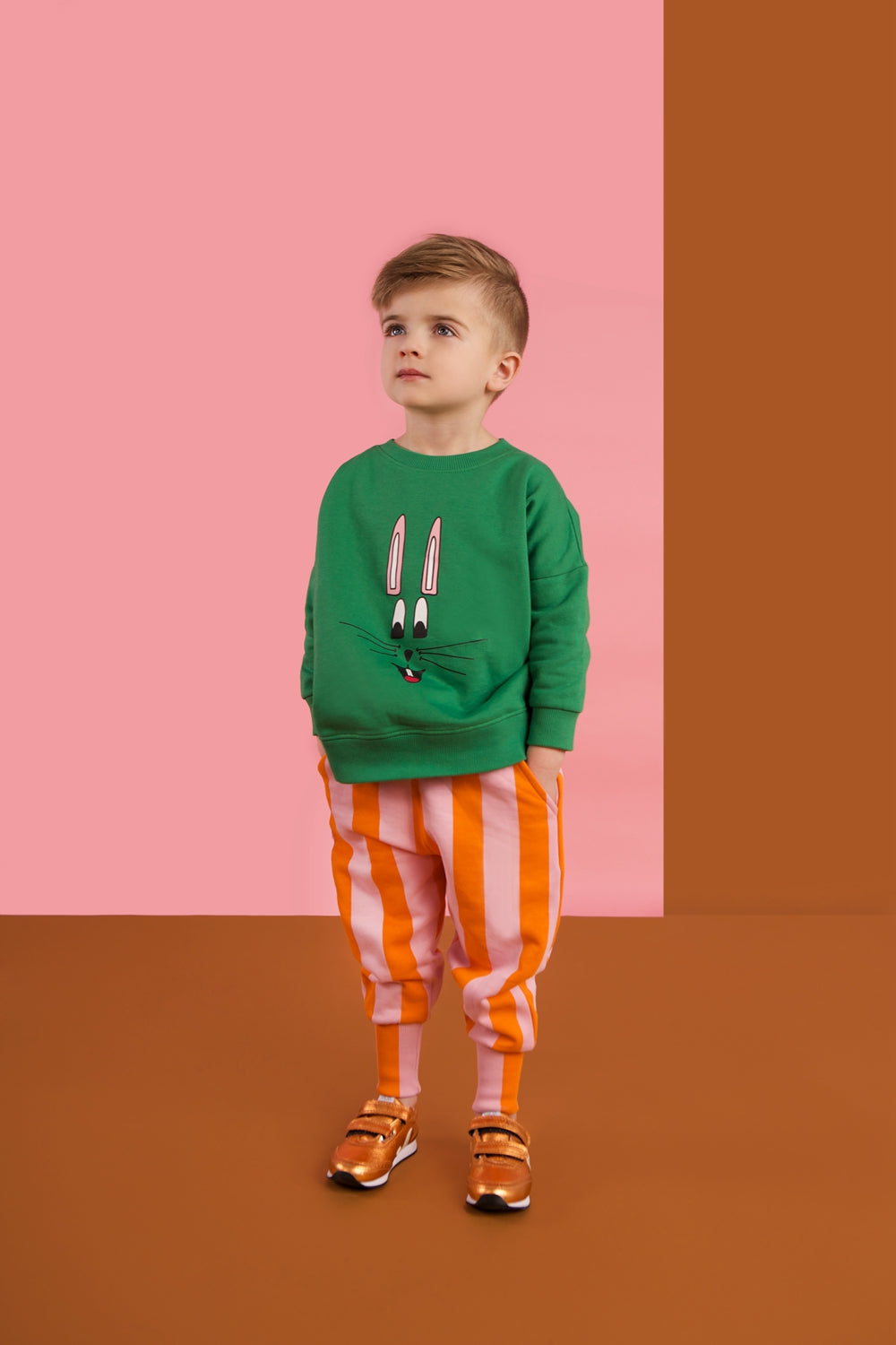 HUGO LOVES TIKI - Green Bunny Wide Sweatshirt - Last One!! Size: 6-12M