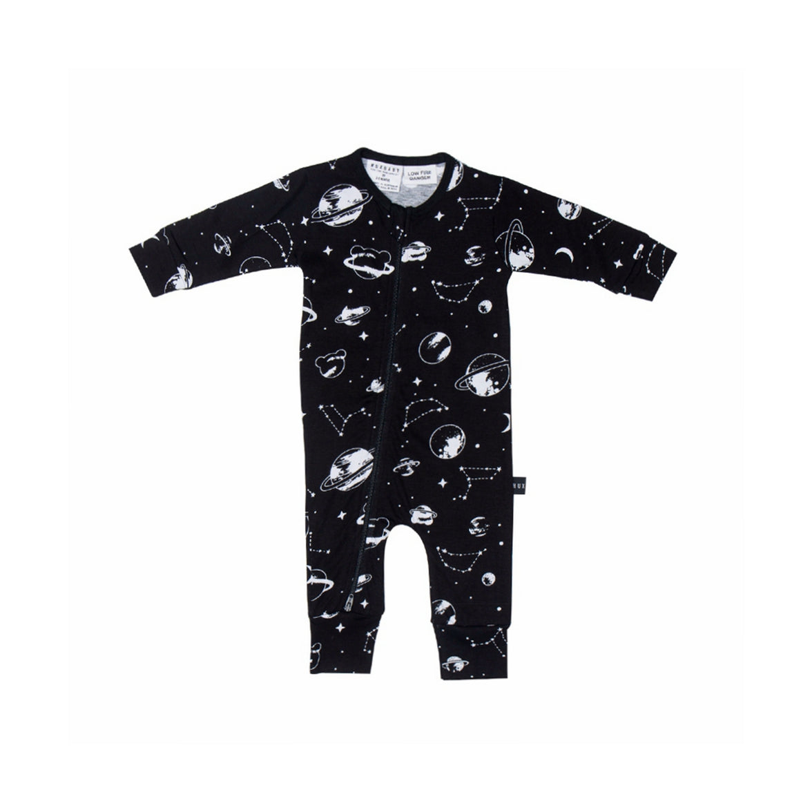 HUXBABY Space Zip Long Romper - Last One!! Size: 3-6M