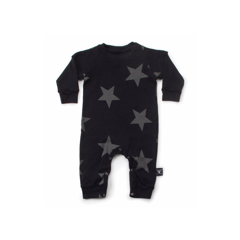 NUNUNU - Star Playsuit - Black